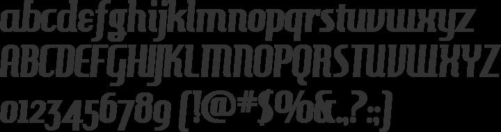 HamburgerHeaven Font Specimen
