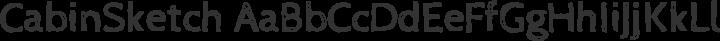 CabinSketch Regular free font