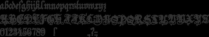 Zenda Font Specimen