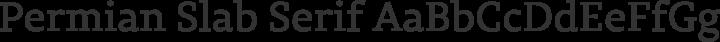 Permian Slab Serif Regular free font