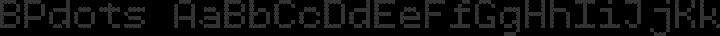 BPdots Regular free font