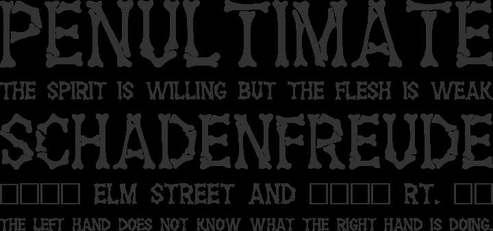 Headhunter Font Phrases
