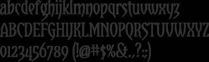 Yataghan Font Specimen