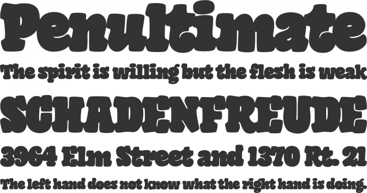 Giant Head OT Font Phrases