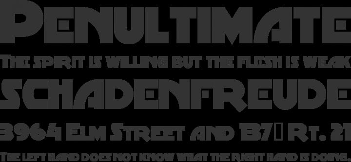 MinstrelPoster Font Phrases