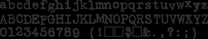 Harting Font Specimen