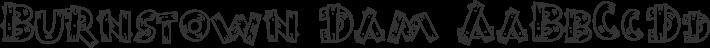 Burnstown Dam font family by Larabie Fonts