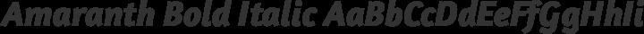 Amaranth Bold Italic free font