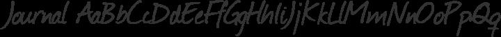 Journal Regular free font