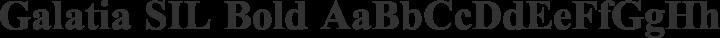 Galatia SIL Bold free font