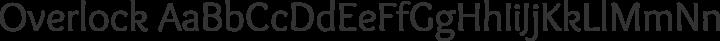 Overlock Regular free font