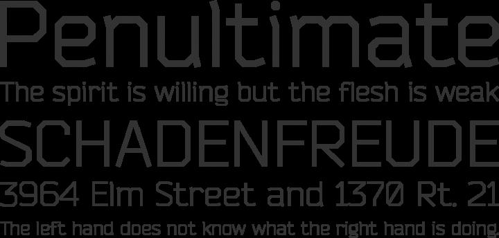 Bender Font Phrases