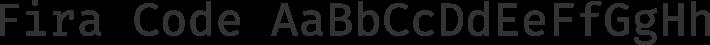 Fira Code font family by Mozilla