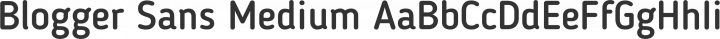 Blogger Sans Medium free font