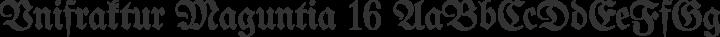 Unifraktur Maguntia 16 free font