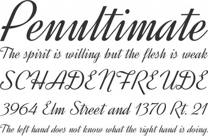 Dynalight Font Phrases