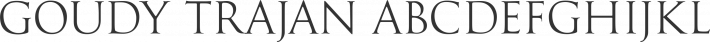Goudy Trajan Regular font family by CastleType