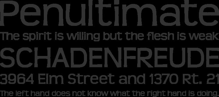 Teen Font Phrases