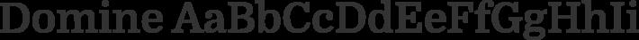 Domine font family by Impallari Type