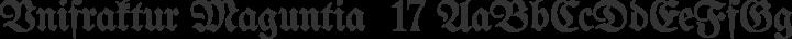 Unifraktur Maguntia  17 free font