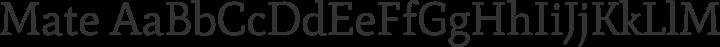 Mate Regular free font