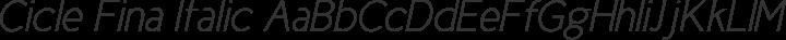 Cicle Fina Italic free font