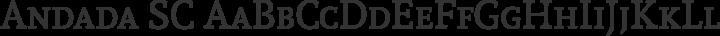 Andada SC Regular free font