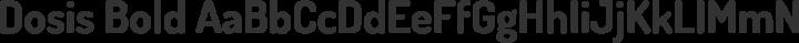 Dosis Bold free font