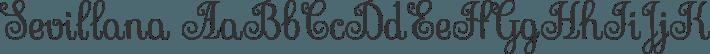 Sevillana font family by Brownfox
