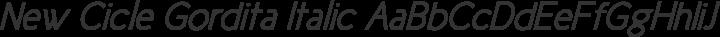 New Cicle Gordita Italic free font