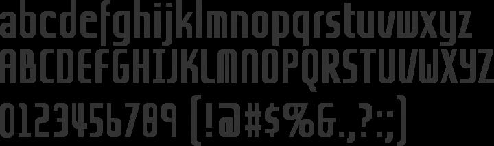 Grov Condensed Font Specimen