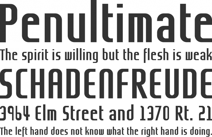 Grov Condensed Font Phrases