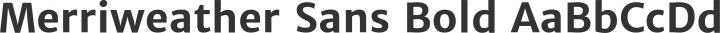 Merriweather Sans Bold free font