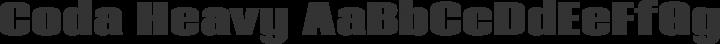 Coda Heavy free font