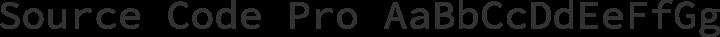 Source Code Pro Regular free font
