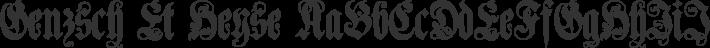 Genzsch Et Heyse font family by Paul Lloyd