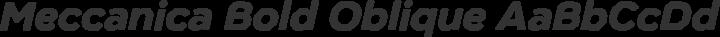 Meccanica Bold Oblique free font