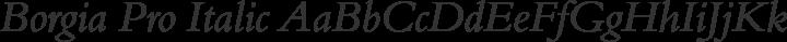 Borgia Pro Italic free font