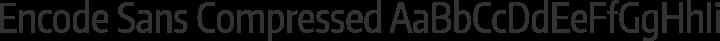 Encode Sans Compressed Regular free font