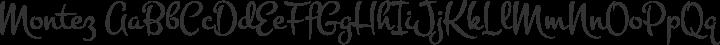Montez Regular free font