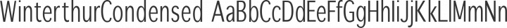 WinterthurCondensed Regular free font