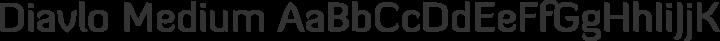 Diavlo Medium free font
