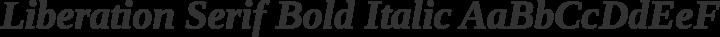 Liberation Serif Bold Italic free font