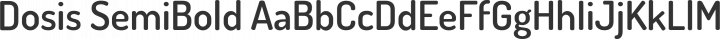 Dosis SemiBold free font