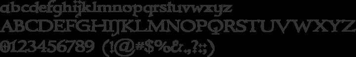 Immortal Font Specimen