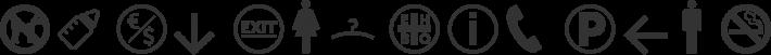 Symbol Signs font family by Sander Baumann