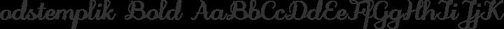 odstemplik Bold free font