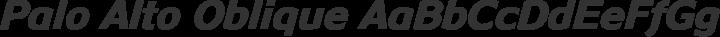 Palo Alto Oblique free font