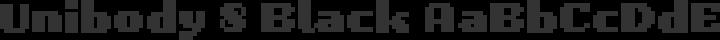 Unibody 8 Black free font