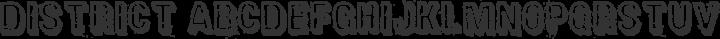 District Regular free font